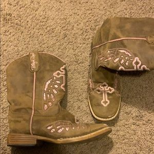 Girls size 2 cowboy boots